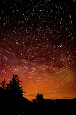Photograph - Aurora And Star Trails by Albert Seger