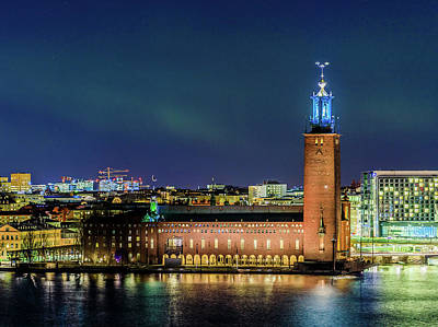 Photograph - Aurora And The Stockholm City Hall by Dejan Kostic