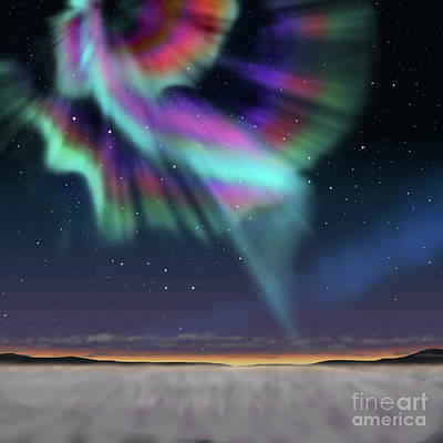 Aurora At Dawn Art Print