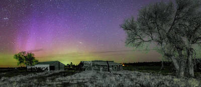 Photograph - Aurora At The Old Ranch by Cat Connor