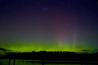 Photograph - Aurora Australia Trial Bay Tasmania 19 March 2015 by Odille Esmonde-Morgan