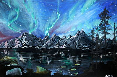 Diane Peters Painting - Aurora Borealis 1 by Diane Peters