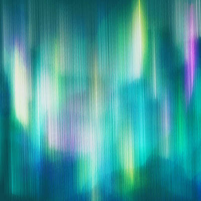 Aurora Borealis Abstract Art Print by Lourry Legarde