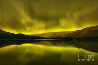 Photograph - Aurora Borealis At Jasper National Park by Adam Jewell