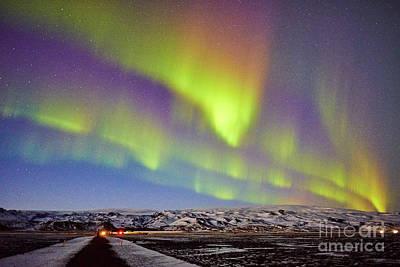 Photograph - Aurora Borealis At Solheimasandur by Benjamin Wiedmann