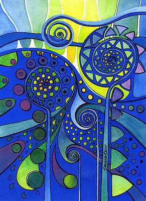 Painting - Aurora Borealis by Deyana Deco