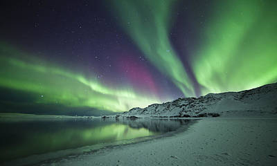 Aurora Borealis In Iceland Art Print by Arnar B Gudjonsson