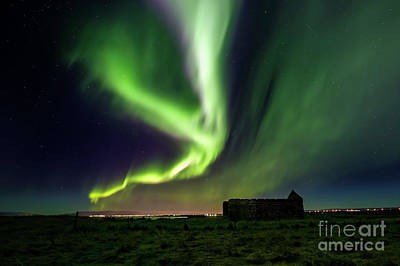 Photograph - Aurora Borealis Over by Gunnar Orn Arnason