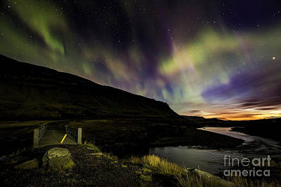 Photograph - Aurora Borealis Over Iceland Sunset by Gunnar Orn Arnason