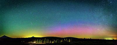 Photograph - Aurora Borealis Over Oregon by Cat Connor