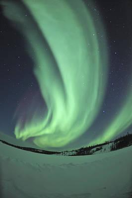 Yellowknife Photograph - Aurora Borealis Over Prosperous Lake by Jiri Hermann
