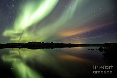 Photograph - Aurora Borealis Over Thingvellir by Gunnar Orn Arnason