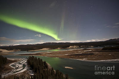 Yukon River Photograph - Aurora Borealis Over Yukon River by Jonathan Tucker