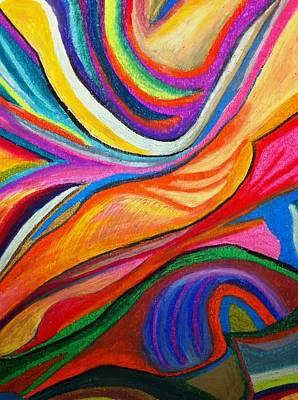 Pastel - Aurora Borealis by Polly Castor