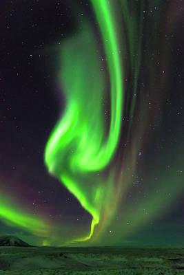 Photograph - Aurora Burst by Allen Biedrzycki