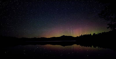 Photograph - Aurora Chocorua Lake by Benjamin Dahl