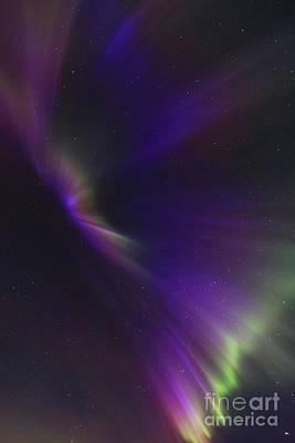 Aurora Corona In The Sky Of Iceland Art Print