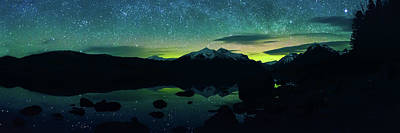 Montana Digital Art - Aurora Glow  by Bryan Moore