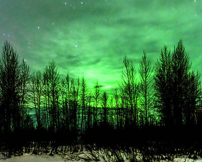 Photograph - Aurora In The Clouds by Bryan Carter