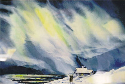 Aurora-lights Art Print by Nancy Newman