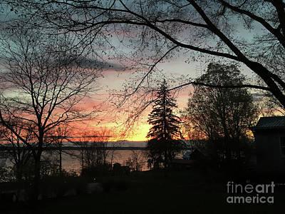 Photograph - Aurora Ny Sunset by Joann Long