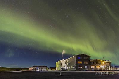 Photograph - Aurora Over Hotel by Hitendra SINKAR