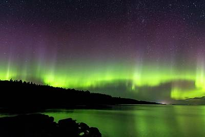 Photograph - Aurora Over Superior 3 by Paul Schultz