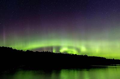 Photograph - Aurora Over Superior 4 by Paul Schultz