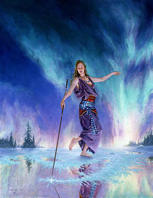 Mystical Landscape Painting - Aurora by Richard Hescox