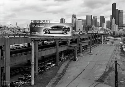 Photograph - Alaskan Way Viaduct Seattle 2008 by Daniel Hagerman