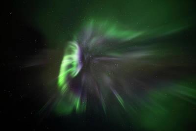 Photograph - Aurora Warp Speed by Darcy Michaelchuk