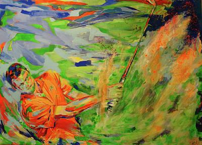 Painting - Aus Dem Bunker Spielen   Bunker Shot by Koro Arandia