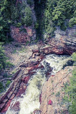 Photograph - Ausable Chasm Canyon by Claudia M Photography