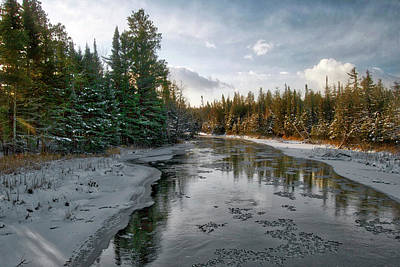 Fir Trees Photograph - Ausable River 1282 by Michael Peychich