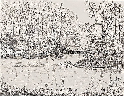 Ausable River At Rock Glen Art Print