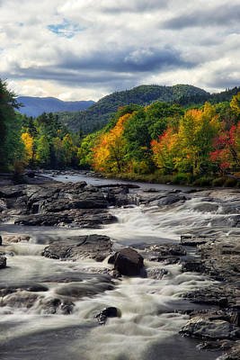 Art Print featuring the photograph Ausable River Jay Ny by Mark Papke