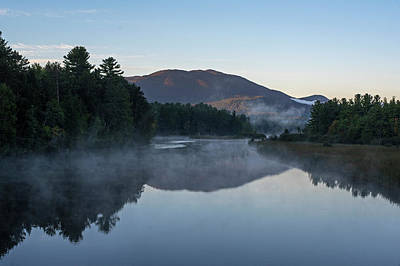 Photograph - Ausable River Morning Reflection Lake Placid Ny Sunrise by Toby McGuire