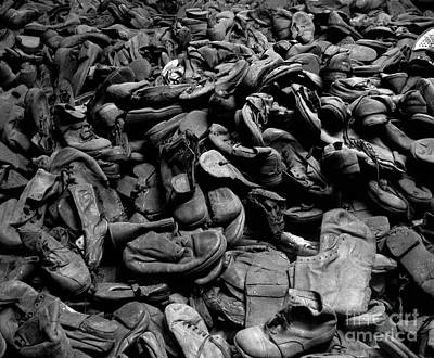Documentary Photograph - Auschwitz-birkenau Shoes by RicardMN Photography
