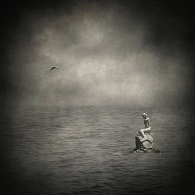 Surrealism Royalty-Free and Rights-Managed Images - Ausencia presencia y una sirena by Zapista OU