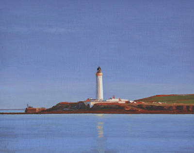 Painting - Auskerry Lighthouse Orkney by Charles Pompilius