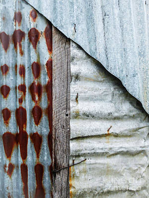 Photograph - Aussie Galvanised Iron #2 by Lexa Harpell