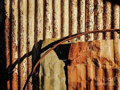 Photograph - Aussie Galvanised Iron #31 by Lexa Harpell