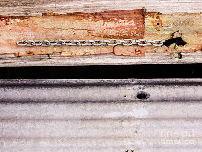 Photograph - Aussie Galvanised Iron #32 by Lexa Harpell
