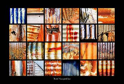 Photograph - Aussie Galvanised Iron Collection by Lexa Harpell