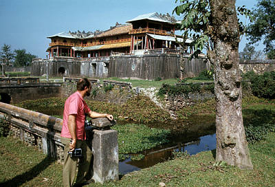 Photograph - Aussie Journalist At The Imperial City In Hue by Robert Holden