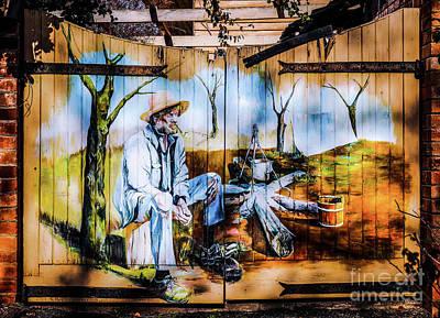 Photograph - Aussie Mural On Gate by Lexa Harpell