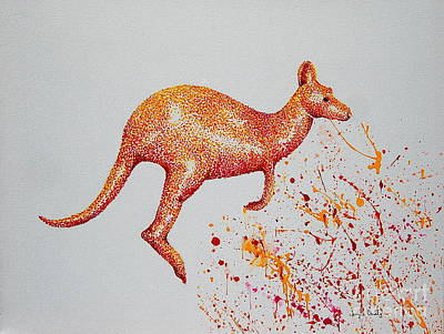 Painting - Aussie Roo by Tamyra Crossley