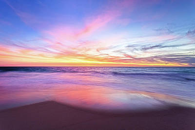 Print featuring the photograph Aussie Sunset, Claytons Beach, Mindarie by Dave Catley