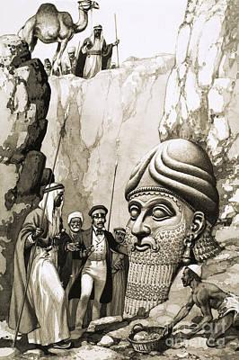 Austen Layard And The Statue Of Nimrud Art Print