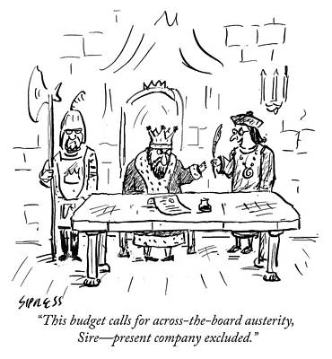 Drawing - Austerity by David Sipress